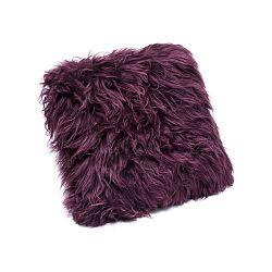 Tmavovínový vankúš z ovčej kožušiny Royal Dream Sheepskin, 30 x 30 cm