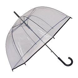 Transparentný dáždnik s čiernym lemom Liner