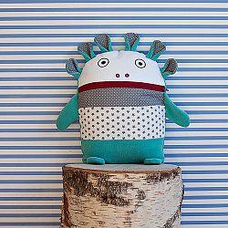 Tyrkysovo-sivý pyžamožrút Bartex, 35x30cm