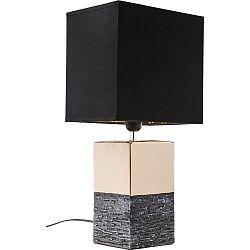 Väčšia stolová lampa v zlatej farbe s čiernym tienidlom Kare Design Creation