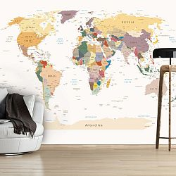 Veľkoformátová tapeta Artgeist World Map, 300x210cm