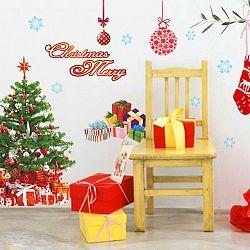 Vianočné samolepky Fanastick Santa, Balls and Tree