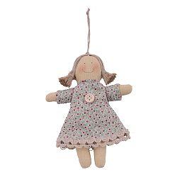 Závesná látková dekorácia v tvare bábiky Ego Dekor, 11 x 15 cm