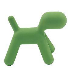 Zelená stolička Magis Puppy, dĺžka 70cm