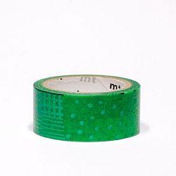 Zelená washi páska MT Masking Tape Script Green