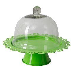 Zelený servírovací stojan na tortu so skleneným poklopom Mauro Ferretti