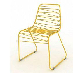 Žltá stolička Magis Flux