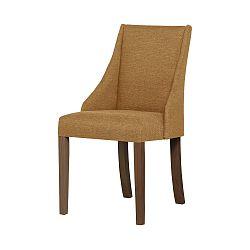 Žltá stolička s tmavohnedými nohami Ted Lapidus Maison Absolu