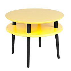 Žltý konferenčný stolík s čiernymi nohami Ragaba UFO, Ø 57cm