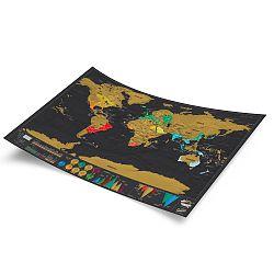Zoškrabávacia mapa sveta Luckies of London Travel Deluxe