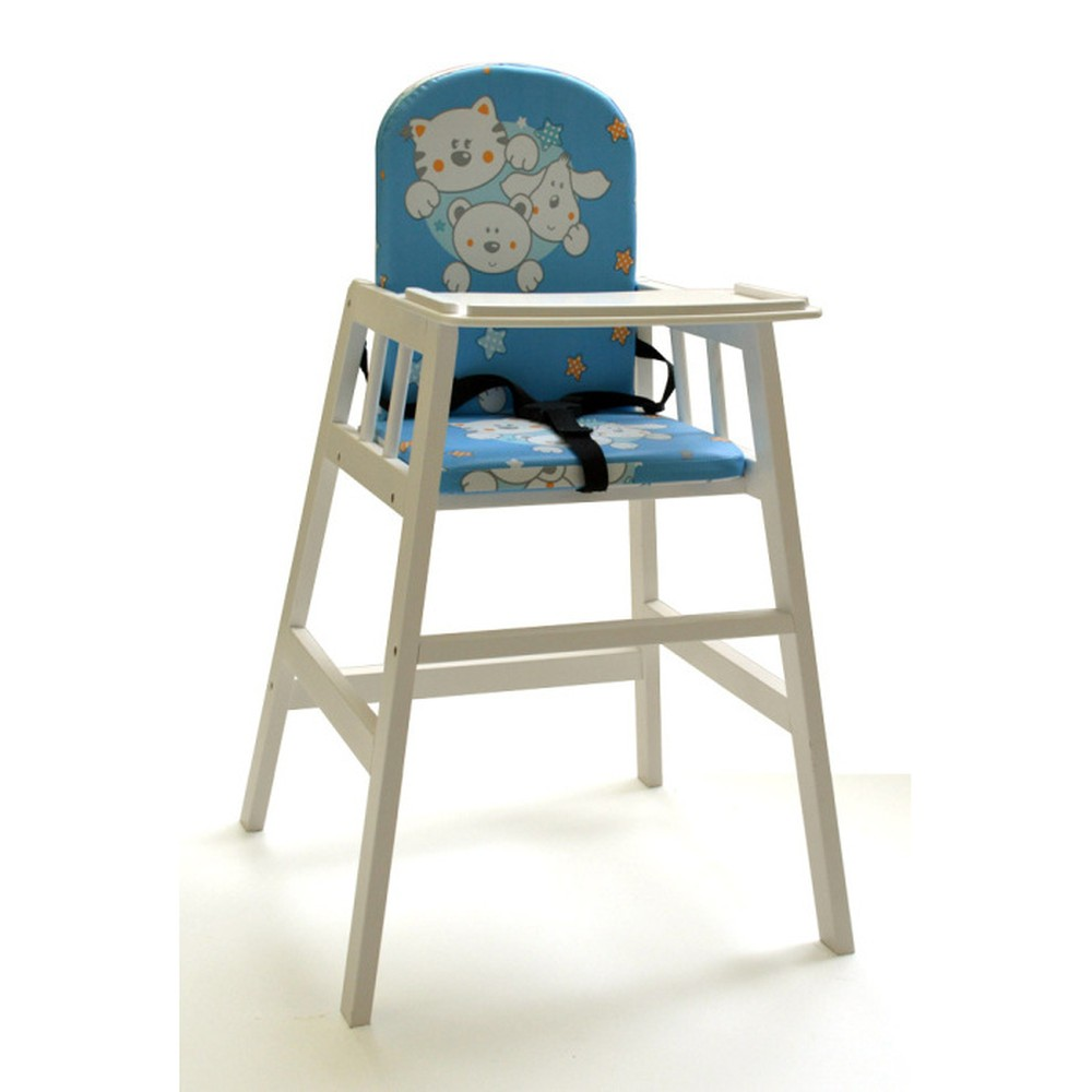 f9f7356befa2 Biela drevená detská jedálenská stolička Faktum Abigel ...