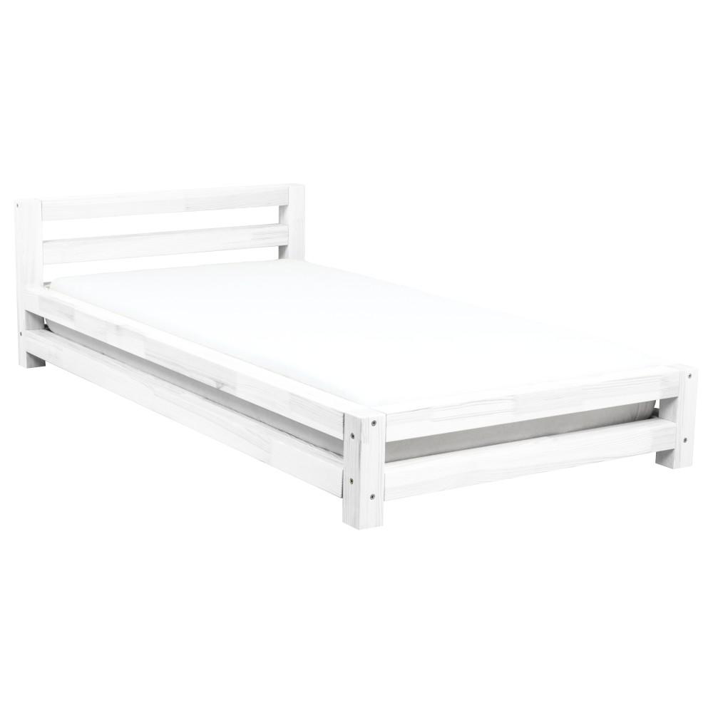 7ffa85d47489 Biela jednolôžková posteľ z borovicového dreva Benlemi Single