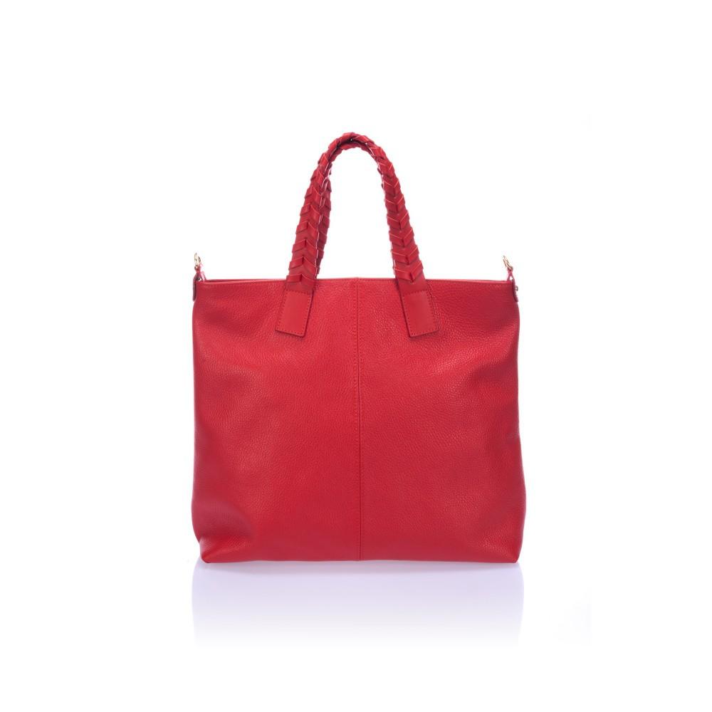 459648838a Červená kožená kabelka Lisa Minardi Elisa