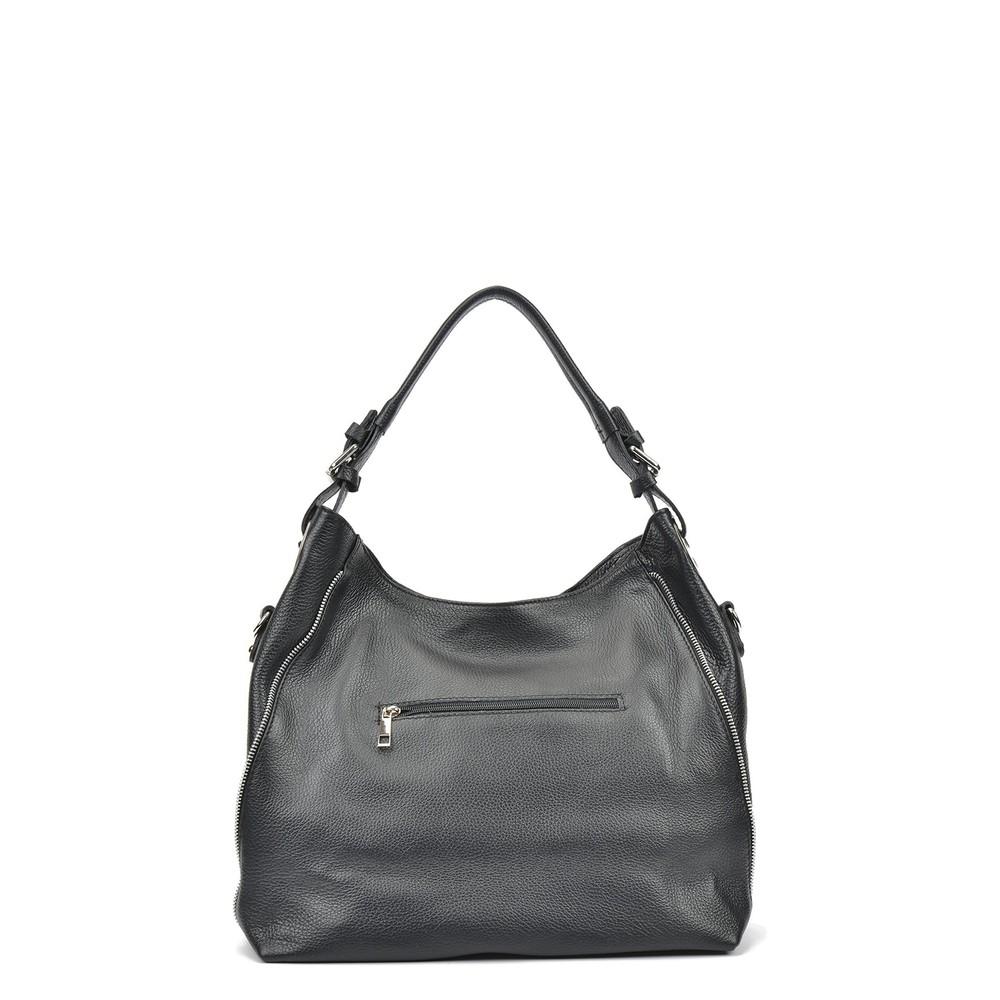 Čierna kožená kabelka Mangotti Patrisha  30357765cdf