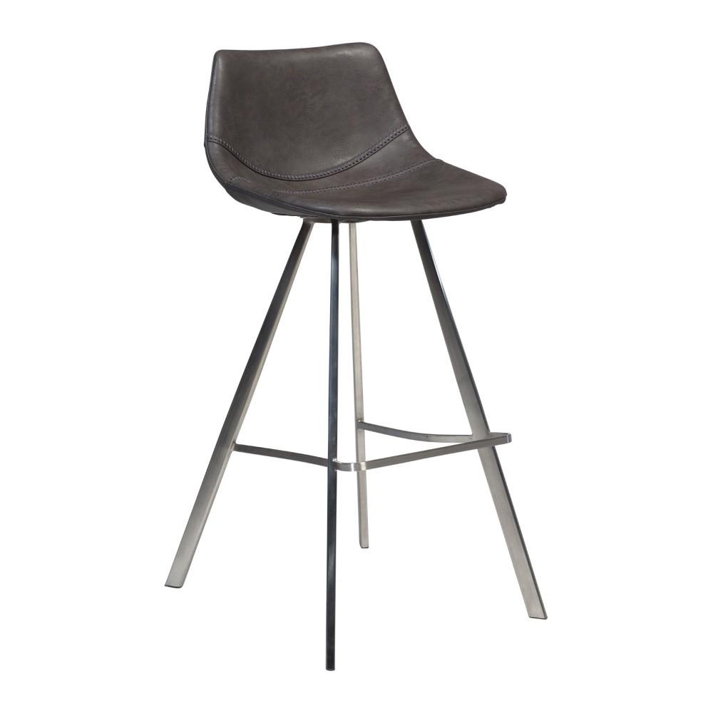 05d2cd007ee4 Sivá barová stolička s oceľovou podnožou DAN–FORM Pitch ...